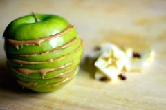 תפוח בתאורה טבעית