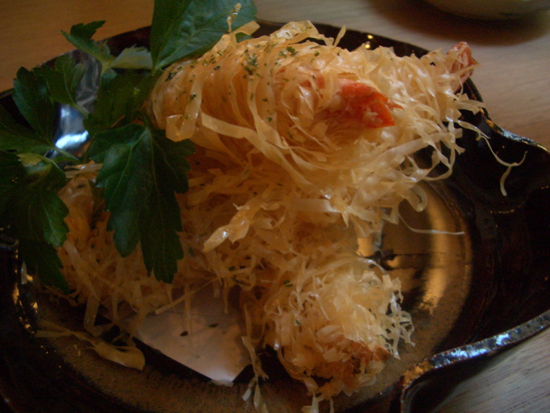 Ebi tempura at Hako