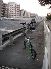 Início do passeio sobre o viaduto da Av. Lusíada
