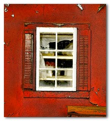 ~Cafe Window~ (HyeStyleShots thank you to a very generous friend ) Tags: california old red window cafe paint shutters cracks bakersfield 2007 1917 kerncountyphotographers hyeclas hyetylehot berylscafe