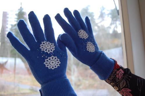 Blue fingers