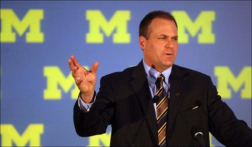 Coach Rod at his 12/17/2007 News Conference accepting the Michigan Head Football Coaching job.