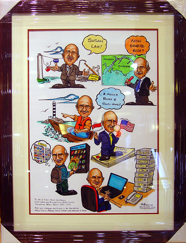 Caricatures Attorney-General Chambers framed