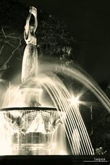 : pandora (Lakad Pilipinas) Tags: longexposure blackandwhite fountain monochrome sepia asia philippines statues manila nights southeast ust bnw luzon universityofsantotomas canonpowershots3is flickrchallengegroup audioscience sangoyo christianlucassangoyo