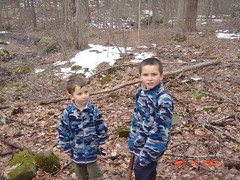 Boys in the woods (PixieRosa) Tags: woods naturewalk