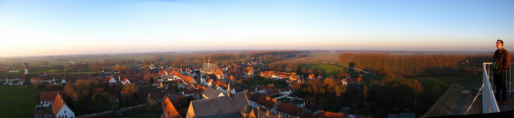 View of Damme from Church Tower