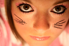 3. Bagpuss (MissWickTilleth) Tags: pink woman baby selfportrait me girl fashion lady cat canon rebel 50mm eyes kitten day teddy expression makeup portraiture dressinggown 365 eyeshadow challenge cerise bagpuss eyeliner xti 365day superbmasterpiece superbmatserpiece