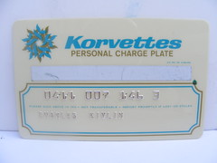 Korvettes Credit Card! (slade1955) Tags: departmentstore creditcard korvettes ejkorvettes