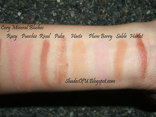 MAC MSF and Cory Blush Swatches - The Shades Of U