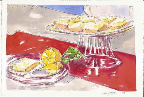 Lemon Squares in Watercolour