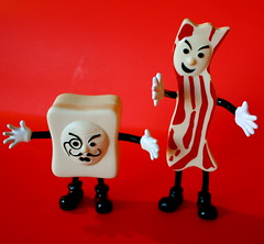 Mister Bacon Versus Monsieur Tofu by zoomar