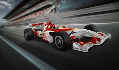 Sevilla's Superleague Formula Car (1 - Diagonal) by superleague formula: thebeautifulrace.