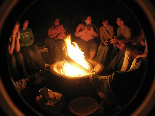 The firepit in Austin, Texas, USA
