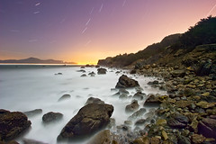 Land's End (ec808x) Tags: sanfrancisco california moon mist 20d beach night canon coast rocks shoreline landsend moonlight kqed 1022mm