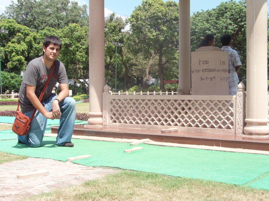 El lugar donde Gandhi fue tiroteado