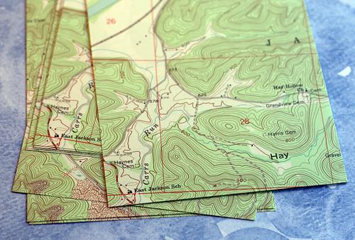 Topographic paper