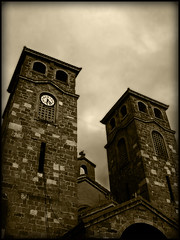La iGLeSia De Mi PueBLo (SwEeTcHy) Tags: clock church sepia cross towers iglesia asturias cruz hour hora reloj torres aller moreda fineartphotos ilovemypics