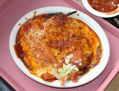 Bobby D's - Chile Relleno and Cheese Enchilada
