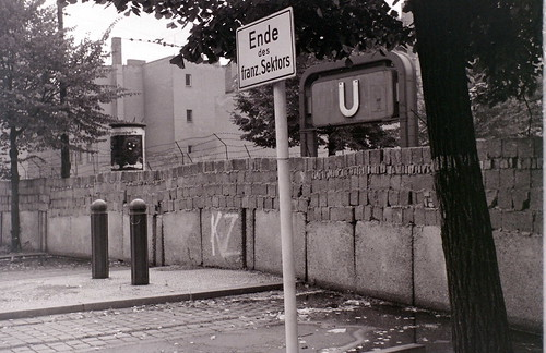 Berlin Wall at Bernauer Strasse, 27 August 1962