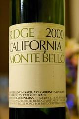 2000 Ridge Monte Bello