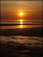 My sunset last night (Kirsten M Lentoft) Tags: sunset sea reflection beach water denmark sand xxx bec themoulinrouge brilliantphotographer momse2600 goldenphotographer diamondclassphotographer hønsingelyng thegardenofzen goldstaraward multimegashot kirstenmlentoft