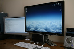 "New Dell 24"" Monitor (5) (William Hook) Tags: windows apple computer mouse pc high keyboard inch ultimate desk monitor g5 gaming dell surround sound microsoft definition vista workstation 24 hd vga 19 hc irc speakers  logitech dvi 720p 1080i 1080p z5500 mirc hdcp 2407wfp 1200p 2407wfphc"
