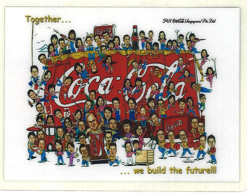 Coca-Cola group caricatures snapshot by client