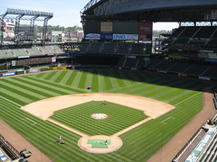 I wish I could mow my lawn like that...if I had a lawn (vleitholf) Tags: seattle mariners safeco