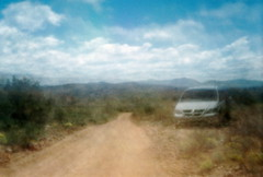 Pinholes do it longer (kevin dooley) Tags: road county camera arizona favorite southwest dusty film beautiful clouds analog 35mm wow us pc holga interesting fantastic lomo lomography long exposure flickr pretty pin desert hole stuck very good gorgeous awesome country central rocky award superior super best pinhole pima trail most utata shutter winner stunning excellent dodge multiple much 135 van rim incredible notdigital cheap mx breathtaking payson exciting phenomenal mogollon barnhardt 135pc