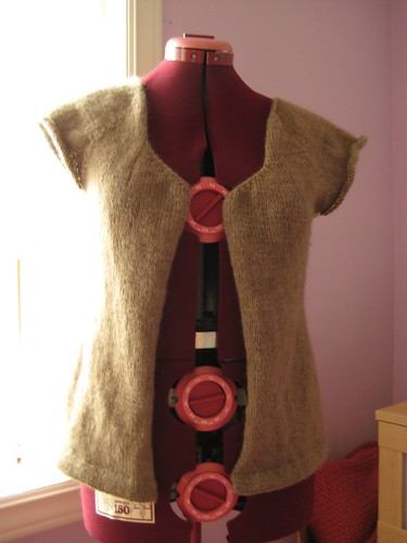 sweater on the dressform