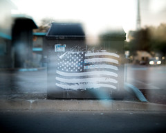 american dumpster (birzer) Tags: american flag usa patriotic trump wheat paste street art