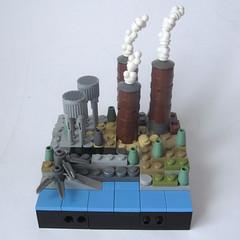 post-apoc : the power station (JETfri) Tags: lego microscale postapoc ffol powerstation
