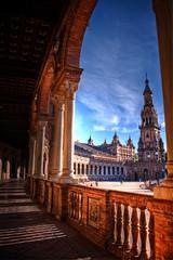 Plaza de España - Sevilla (mgarciac1965) Tags: plazadeespaña torresur sevilla seville andalucía andalucia andalusia españa spain edificio arquitectura arcos cielo sky blue azul nikond5200