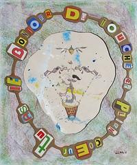 dans-le-mille-2011 (louisphilippevivien) Tags: collage paint rawart peinture artbrut tableau acrylique peinturesurbois