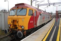 Virgin Class 57/3 57311 'Parker' - Macclesfield (dwb transport photos) Tags: diesel railway virgin locomotive northern thunderbird parker 57311