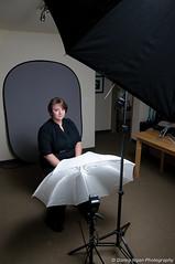 Setup for Jill's portrait (poopoorama) Tags: lighting portrait headshot setup 1020mmf456 jillevans nikond300