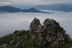 Lake Kozjak covered in clouds (kosova cajun) Tags: mountains clouds landscape macedonia makedonija peisazh maqedoni kozjaklake ezerokozjak