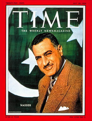 President Nasser on the cover of the time for third time (Kodak Agfa) Tags: people history media egypt cover magazines timemagazine egyptians coverboy