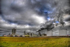 Alberta Prairie Industry (A guy with A camera) Tags: sky canada industry clouds rural fossil nikon energy industrial smoke country gas pollution alberta oil environment prairie refinery climatechange hdr fuel globalwarming blueribbonwinner d80 mywinners anawesomeshot diamondclassphotographer