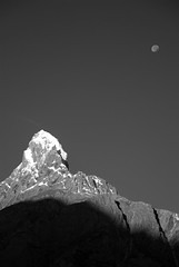 Karakoram Moon at Dawn (crasterkippers) Tags: pakistan trekking hiking