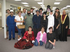 Fidel among the other co-workers who dressed up. (10/31/07)