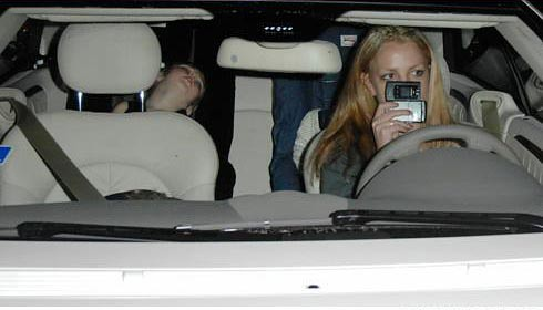 Britney! Stop texting while driving!!!