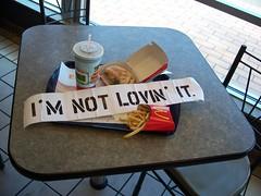 i'm not lovin' it.