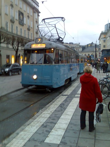 Museumssporvogn p� Norrmalmstorg