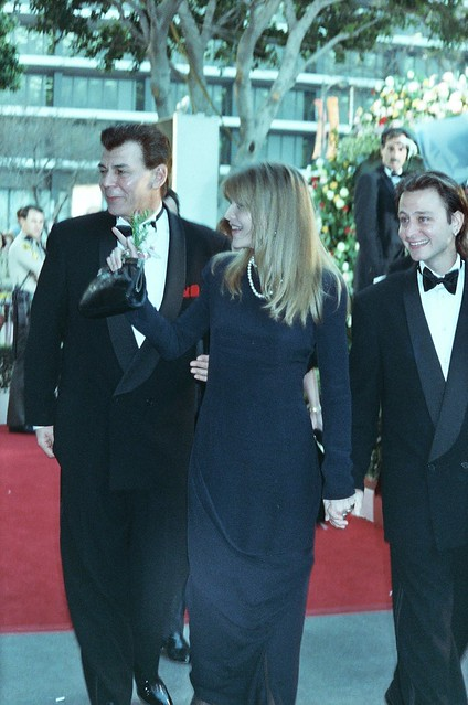 Michelle Pfeiffer and Fisher Stevens. 1990 Academy Awards