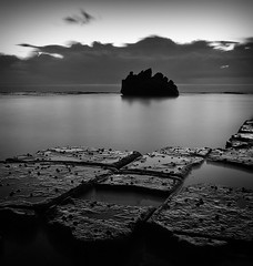 Long Exposure Pre-Dawn At Forresters (brentbat) Tags: longexposure blackandwhite bw sunrise dawn rocks forresters