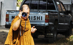 Fancy camera, for a monk