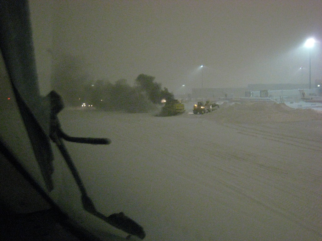 Snow Fryer at the Logan Airport