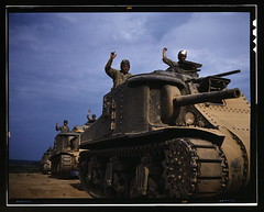 M-3 tank, Ft. Knox, Ky.  (LOC) (The Library of Congress) Tags: june army war tank fort kentucky military wwii worldwarii ww2 soldiers libraryofcongress 1942 m3 fortknox worldwar2 crews usarmy wartime unitedstatesarmy ftknox xmlns:dc=httppurlorgdcelements11 stuarttank dc:identifier=httphdllocgovlocpnpfsac1a35223 alfredtpalmer june1942 alfredpalmer m3lee fortknoxky m3tank m3leetank leetank