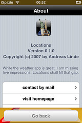 Location for iPhone by ispazio.net